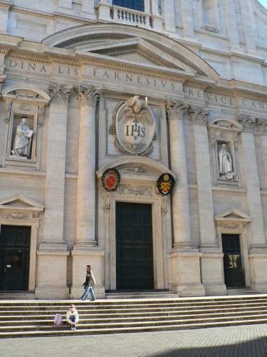 Gesu, Rome, 1568-84.  Giacomo Barozzi da Vignola and Giacomo della Porta.  The epitomy of Roman Counter-Reformation architecture.