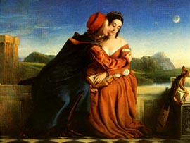 Paolo and Francesca, William Dyce, 1845.