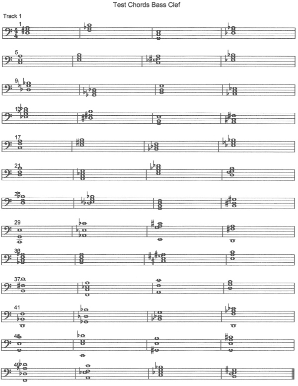 Bass Clef Chords Test | Theory of Music