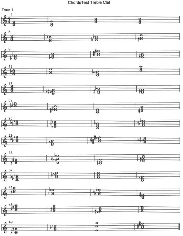 chords test treble clef