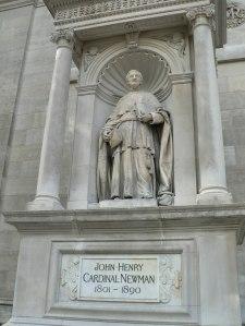 Cardinal Newman, statue at London Oratory