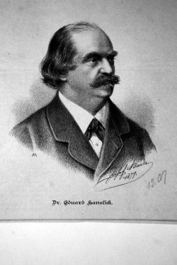 Dr Eduard Hanslick, lithography by Josef Bauer, 1879