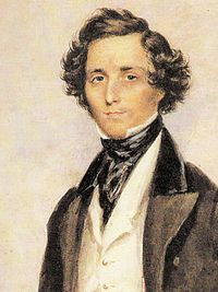 Felix Mendelssohn, 1839, miniature by James Warren Childe