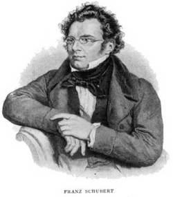 Franz Schubert, lithograph by Josef Kriehuber (1800-1876)