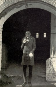 Max Schreck as Count Orlok in Murnau's Nosferatu, promotional photograph