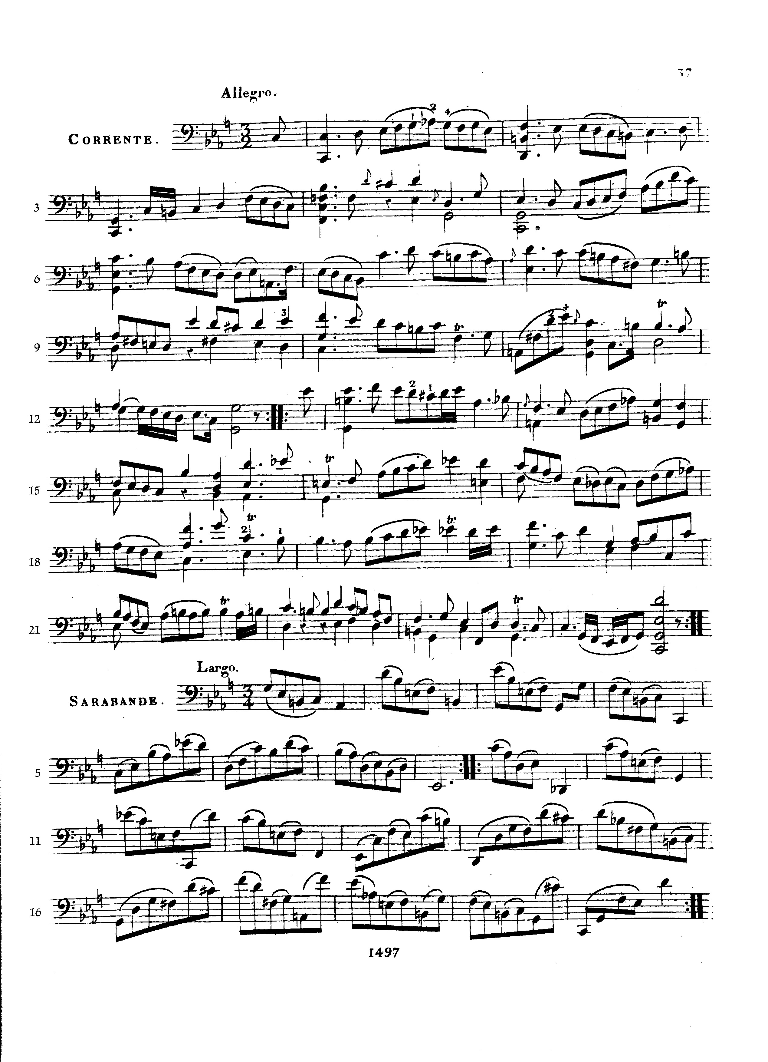 Pablo Casals Js Bach Cello Suite No 5 In C Minor Bwv 1011