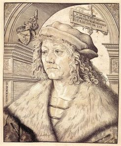 Hans Paumgartner, chiaroscuro woodcut by Hans Burgkmair the Elder, 1512.