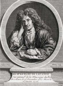 Michel-Richard de Lalande (1657-1726), engraving after Santerre.