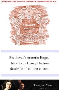 Beethoven's Engedi facsimile of c. 1860 edition.