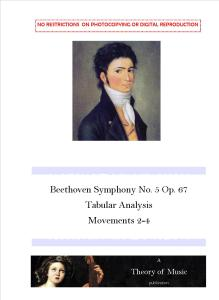 Beethoven Symphony No. 5, tabular analysis, cover