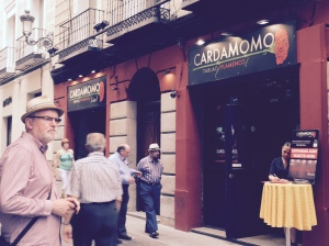 Barry Mitchell outside the Cardamomo Club, Madrid 2015.