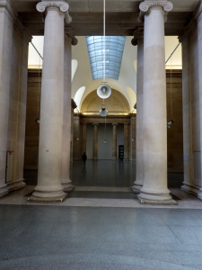 Tate Britain, speaker used in War Damaged Instruments installation, 2016.